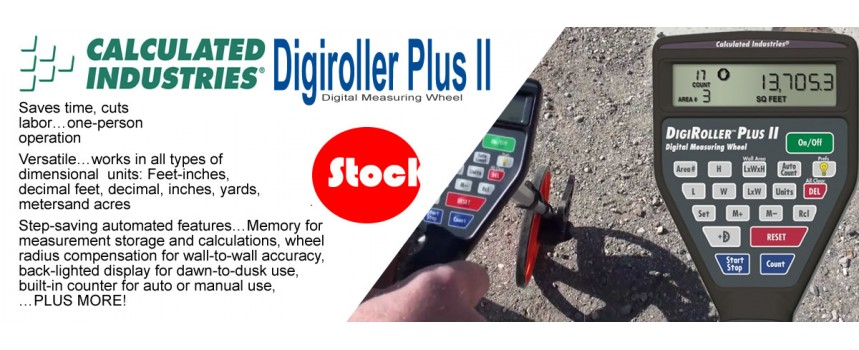 Calculated Industries DigiRoller Plus II Digital Measuring Wheel
