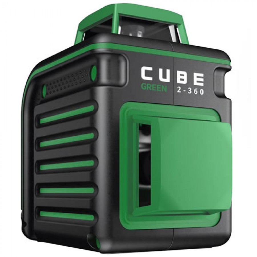 AdirPro Cube Green 2-360 Degree Horizontal & Vertical Cross Line Laser