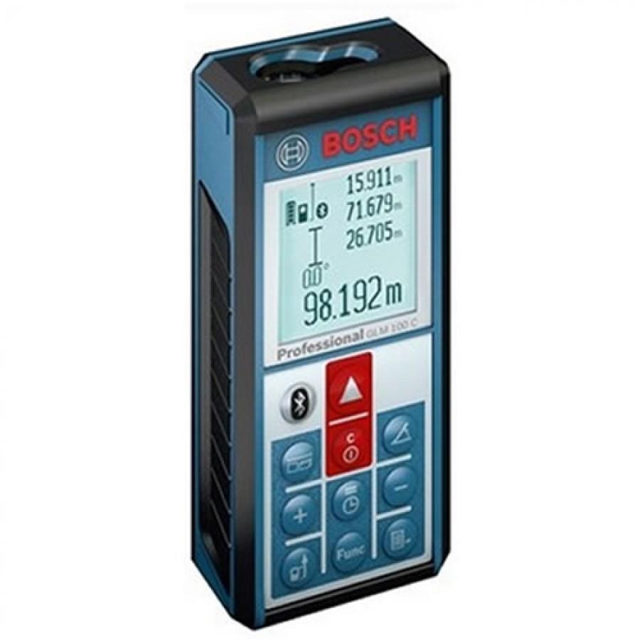 Bosch GLM100C Laser Distance Meter with Bluetooth, 100m