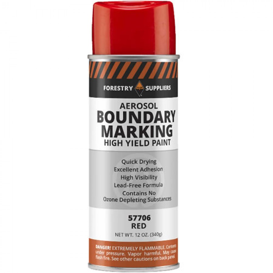 Forestry Suppliers Aerosol Boundary Paint, Red