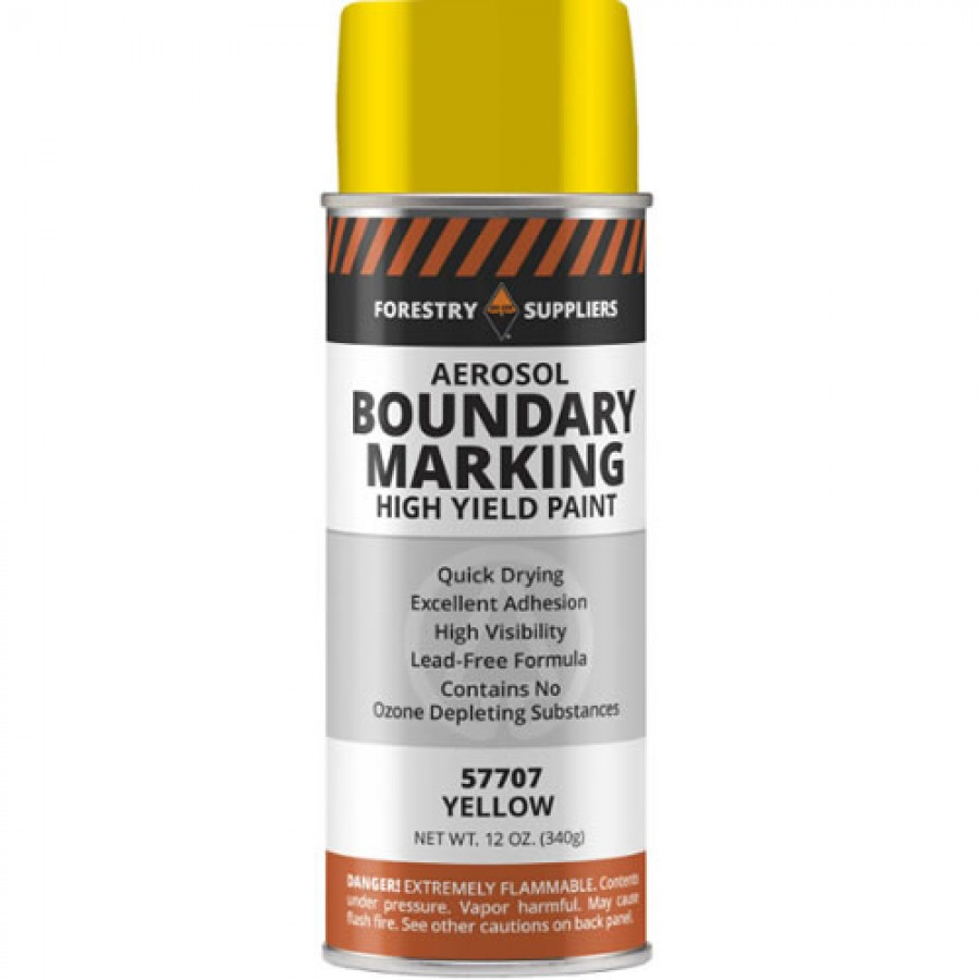 Forestry Suppliers Aerosol Boundary Paint, Yellow