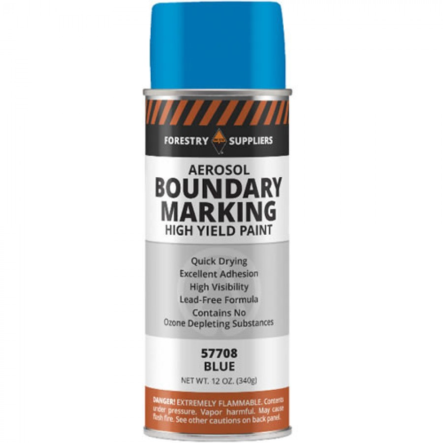 Forestry Suppliers Aerosol Boundary Paint, Blue