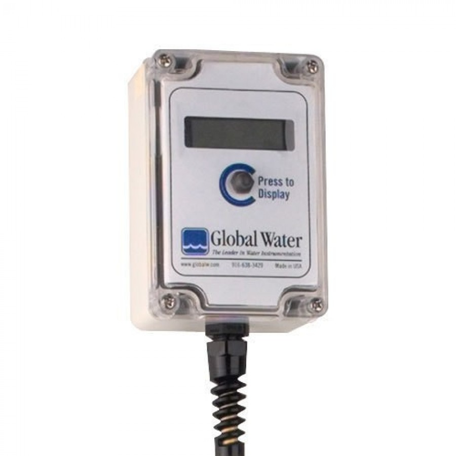 Global Water EZ100 LCD Sensor Display, External VDC Power