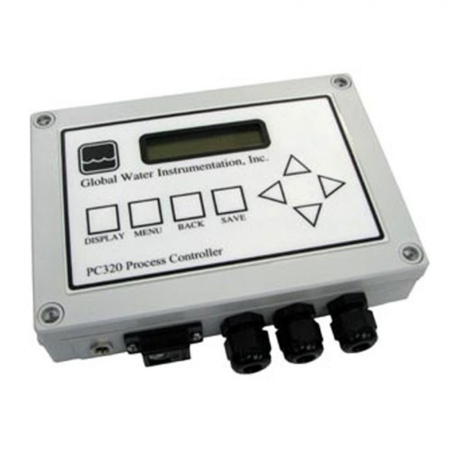 Global Water PC320 Process Controller, AC with USB Logger