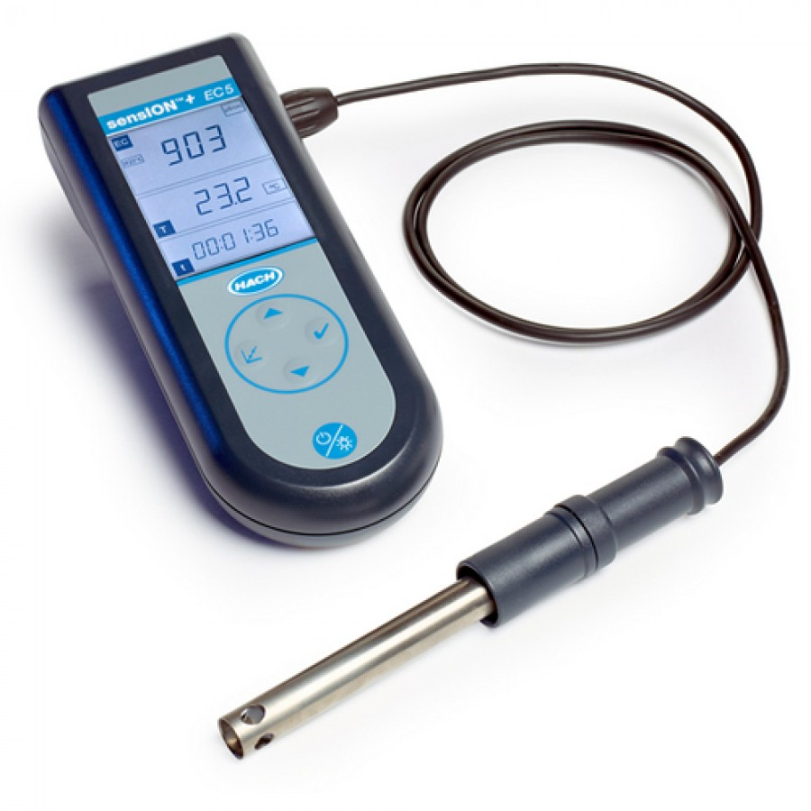 HACH sensION+ EC5 (LPV3562.97.0002) Portable Conductivity Kit with robust Titanium cell