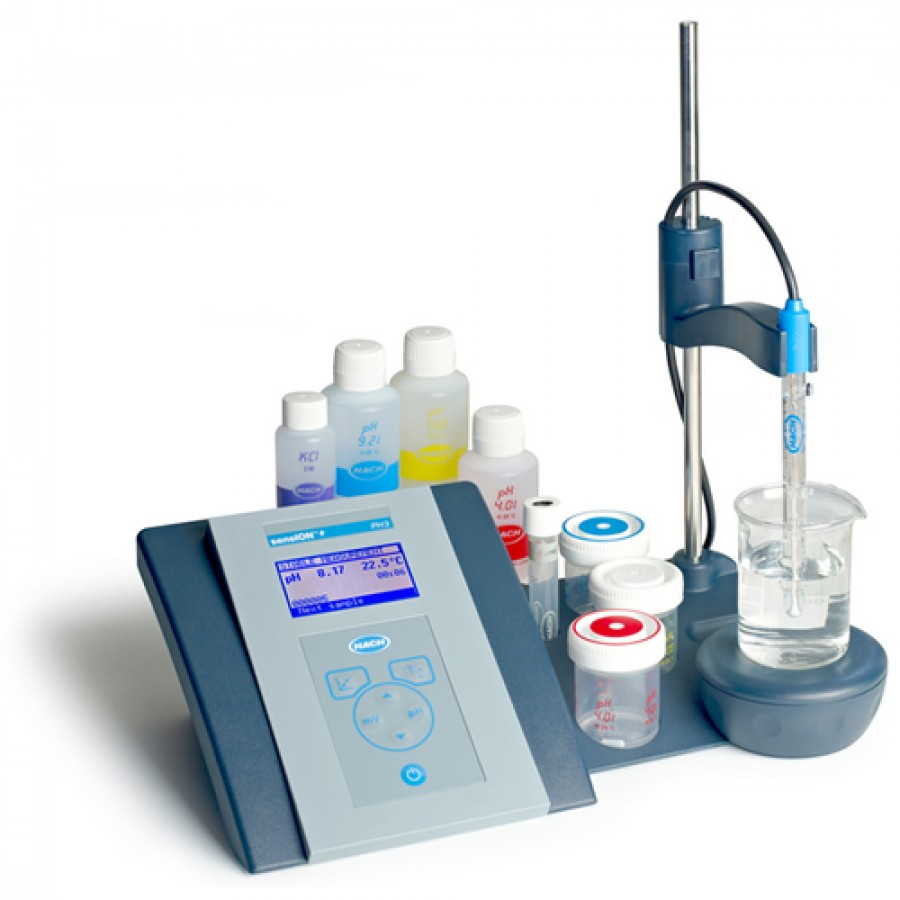 HACH sensION+ PH3 (LPV2010T.97.002) Basic pH General Benchtop Meter Kit with 5010T Combination pH Electrode