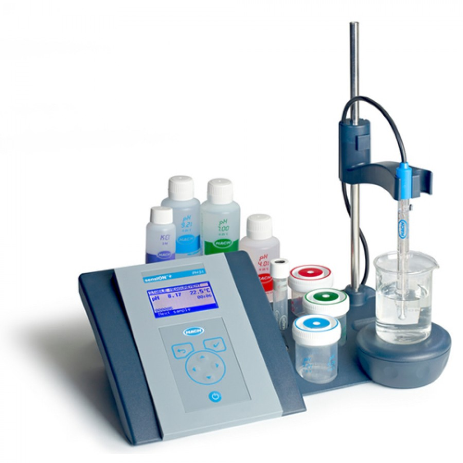 HACH sensION+ PH31 (LPV2110T.97.002) GLP Lab pH General Benchtop Meter Kit with 5010T Combination pH Electrode