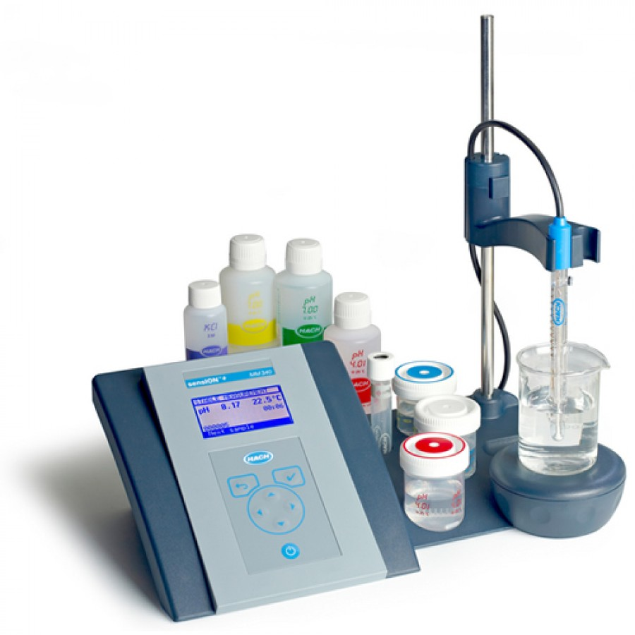 HACH sensION+ MM340 (LPV2210T.97.002) GLP lab pH/ISE General Benchtop Meter Kit with 5010T Combination pH Electrode