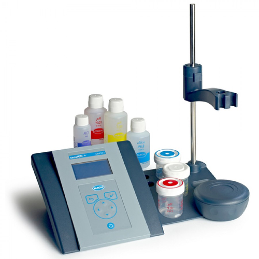HACH sensION+ MM374 (LPV4110.97.0002) GLP pH/ISE/EC Benchtop Meter