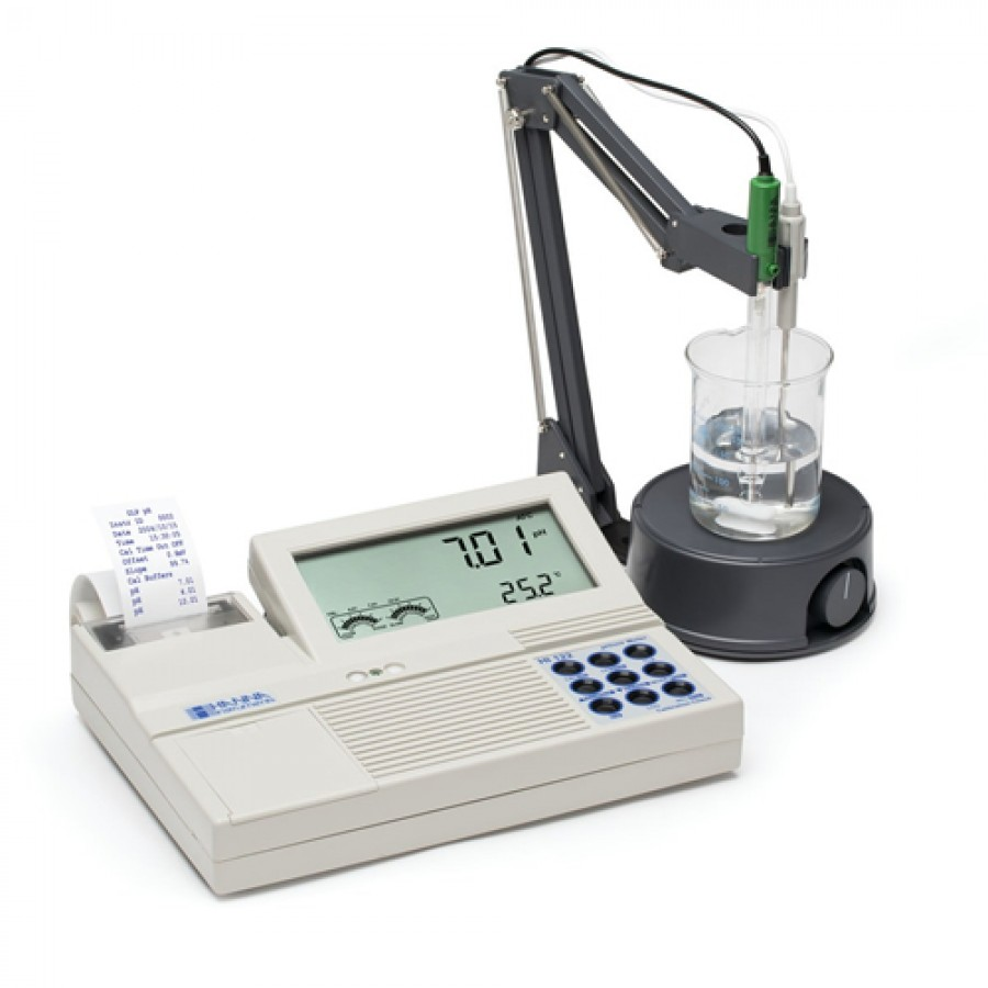 HANNA HI122 Professional Benchtop pH/mV Meter with Built-in Printer