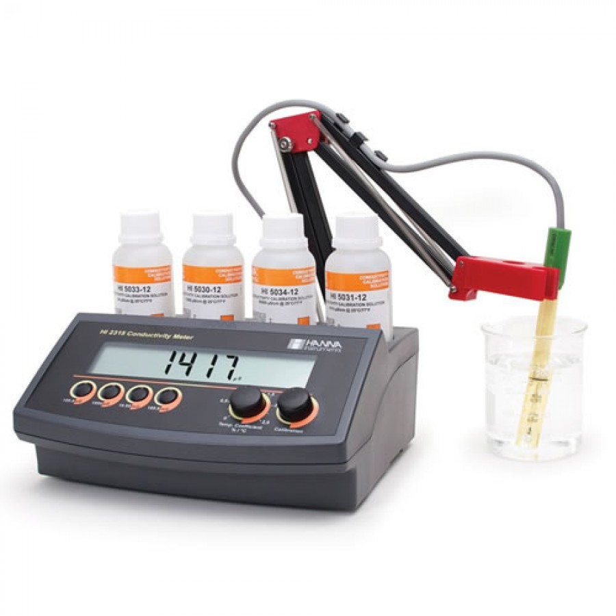HANNA HI2315 Conductivity Benchtop Meter with Automatic Temperature Compensation