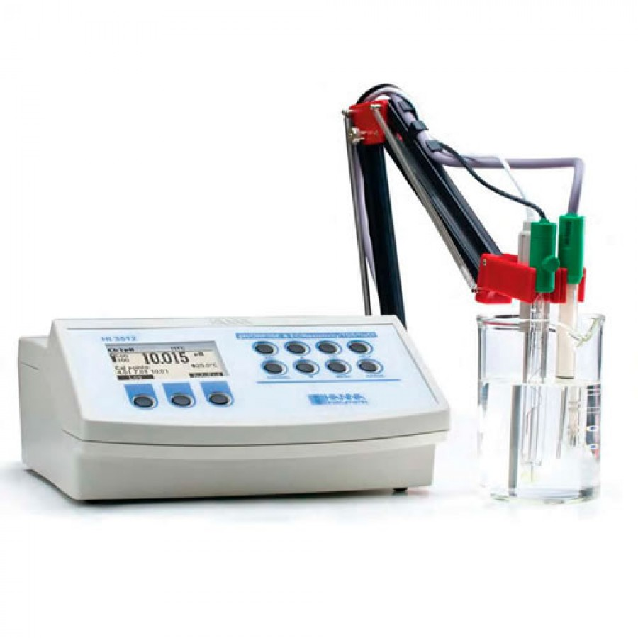 HANNA HI3512 Multiparameter pH/ORP/ISE and EC/TDS/Resistivity/Salinity Benchtop Meter