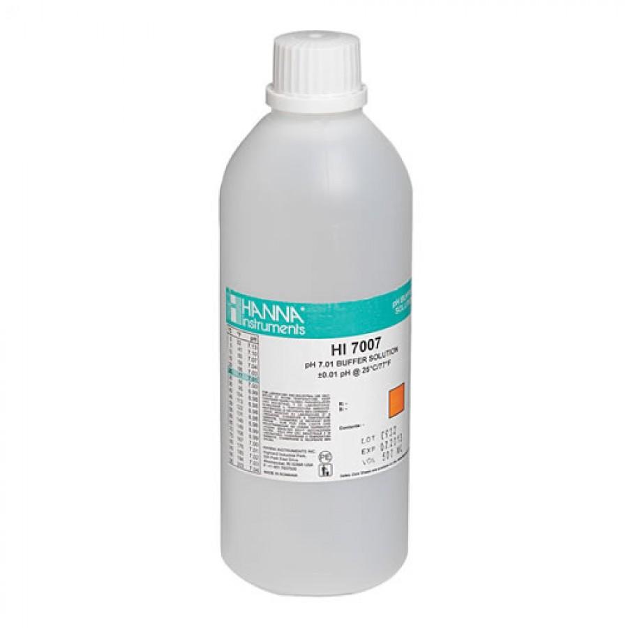 HANNA HI7007L pH 7.01 Calibration Solution (500 mL)