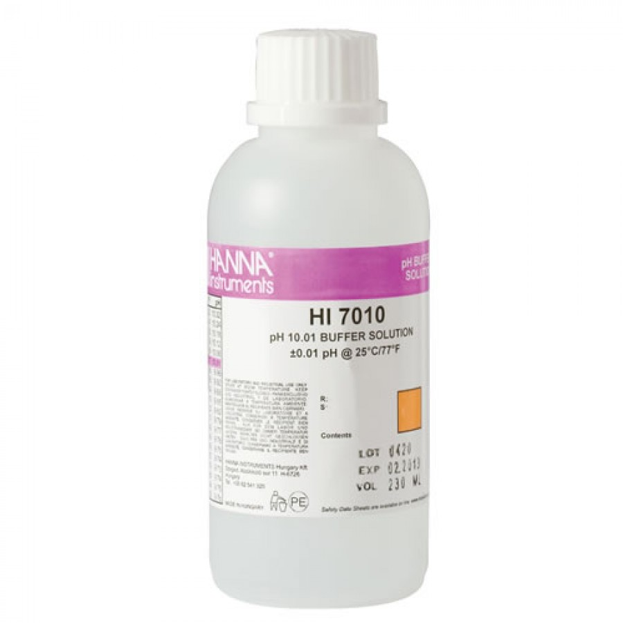 HANNA HI7010M pH 10.01 Calibration Solution (230 mL)