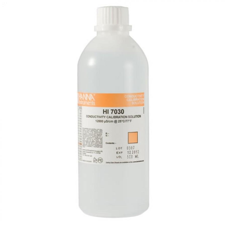 HANNA HI7030L 12880 µS/cm Conductivity Standard (500mL Bottle)