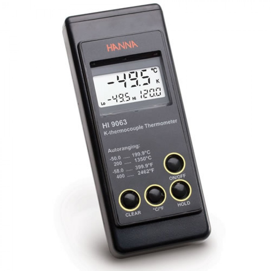 HANNA HI9063 Heavy Duty K-Type Thermocouple Thermometer (-50.0 to to 1350°C; -58.0 to 2462°F