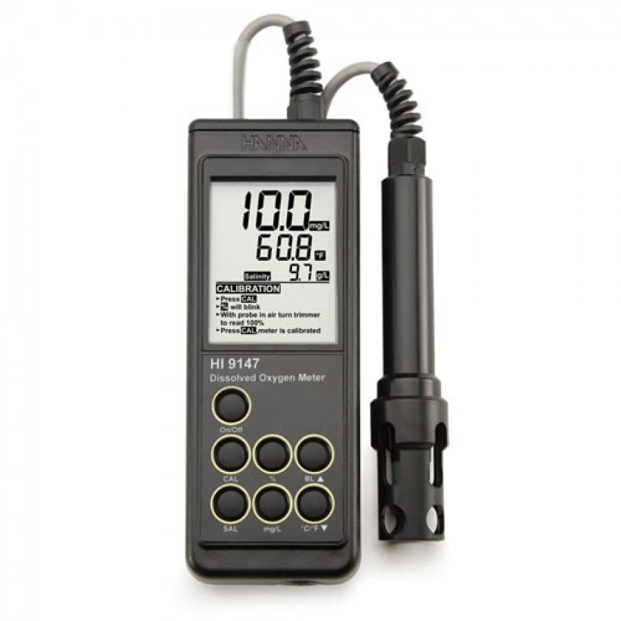 HANNA HI9147-04 Portable Galvanic Dissolved Oxygen Meter w/4m Cable