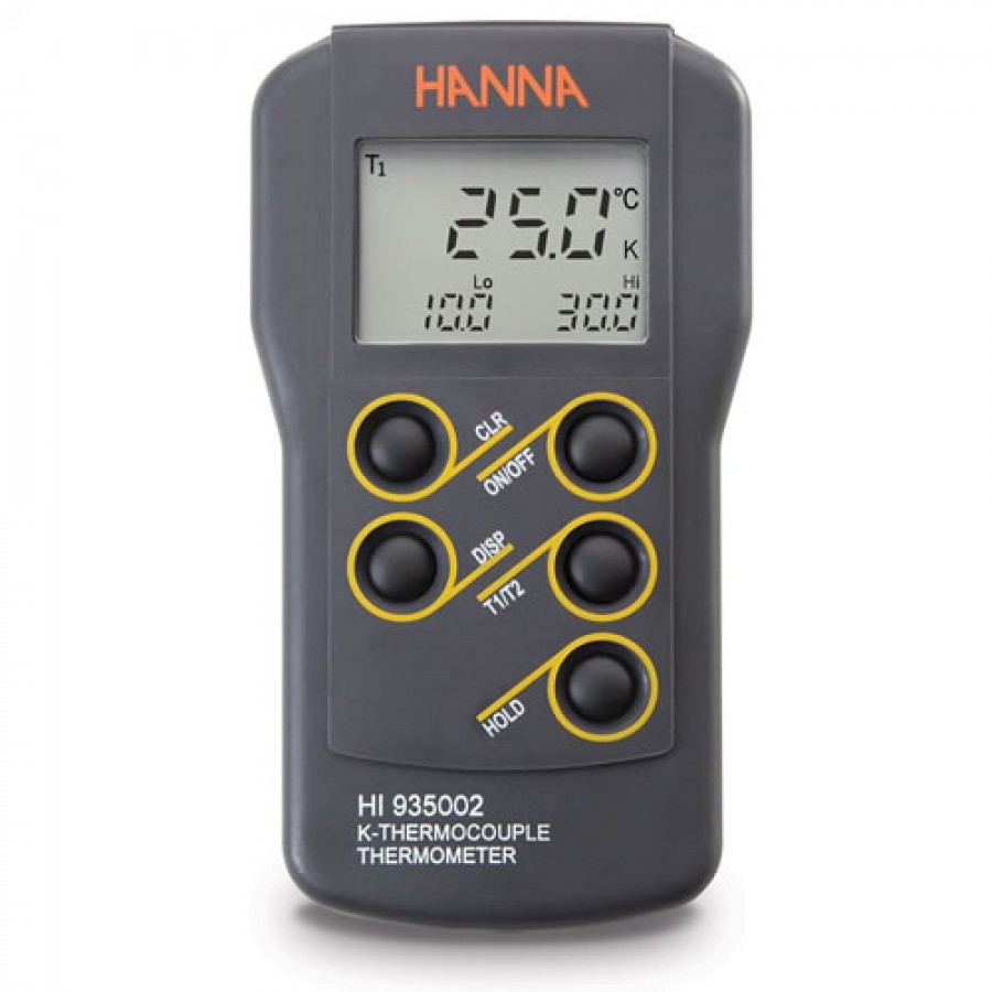 HANNA HI935002 Dual Channel K-Type Thermocouple Thermometer ( °F (-58.0 to 399.9°F and 400 to 2462°F).