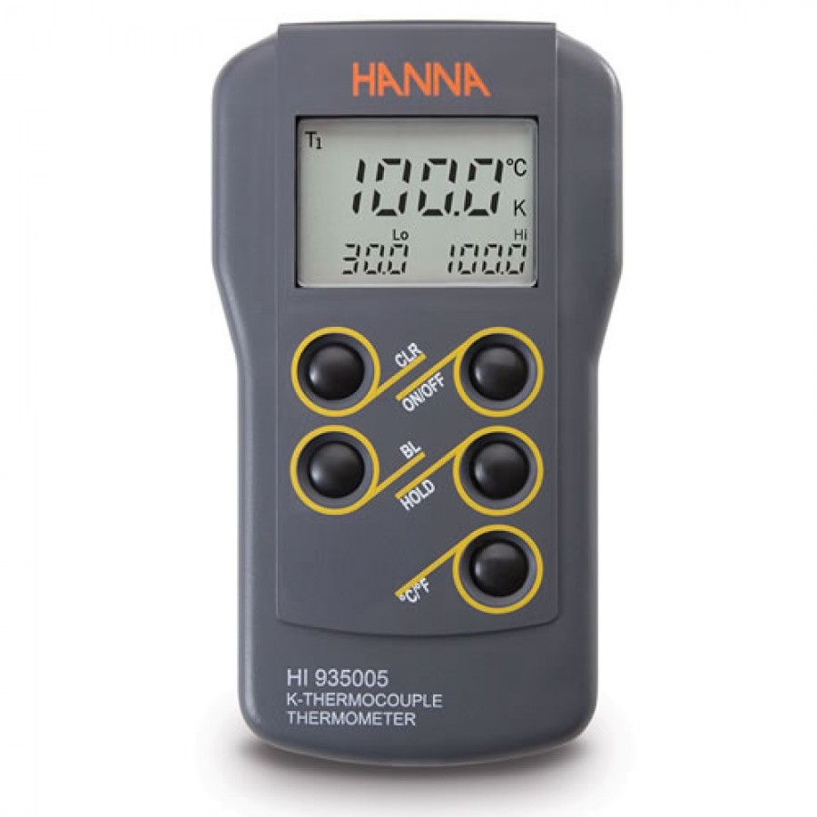 HANNA HI935005 K-Type Thermocouple Thermometer (  -50.0 to 199.9°C and 200 to 1350°C)