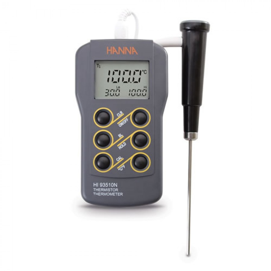 HANNA HI93510N Waterproof Thermistor Thermometer (-50.0 to 150°C (-58.0 to 302°F).