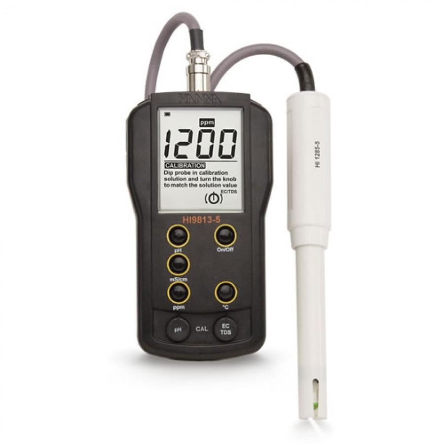 HANNA HI9813-5 Waterproof Portable pH/EC/TDS/Temperature Meter