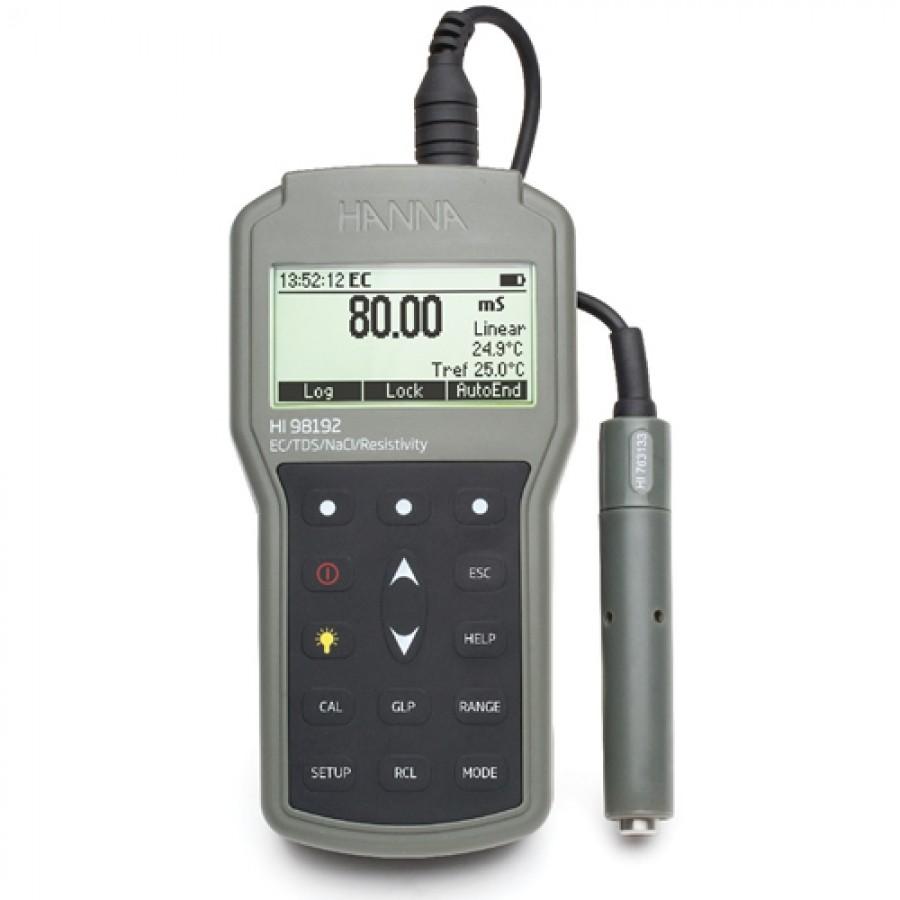 HANNA HI98192 Waterproof Portable EC/TDS/Resistivity/Salinity Meter