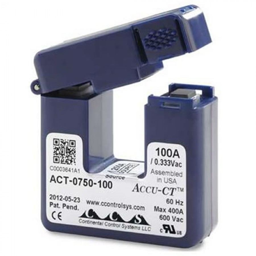 Onset T-ACT-0750-100 HOBO 100 AMP Split-Core Current Transformer