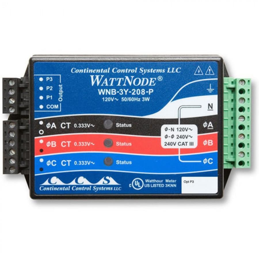 Onset T-WNB-3Y-208-P HOBO 208-240VAC, 2-/3-Branch Circuit WattNode/Wye/kWh Transducer Sensor