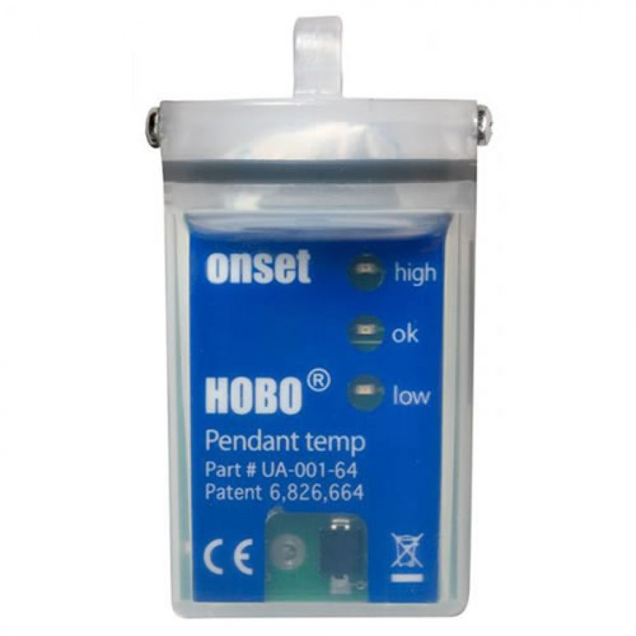 Onset HOBO UA-001-64, Waterproof 64K Pendant Temperature/Alarm Data Logger