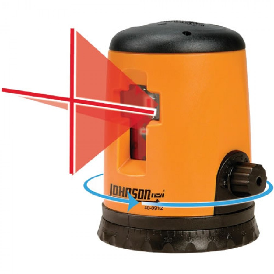 Johnson 40-0912 Self-Leveling Cross-Line Laser