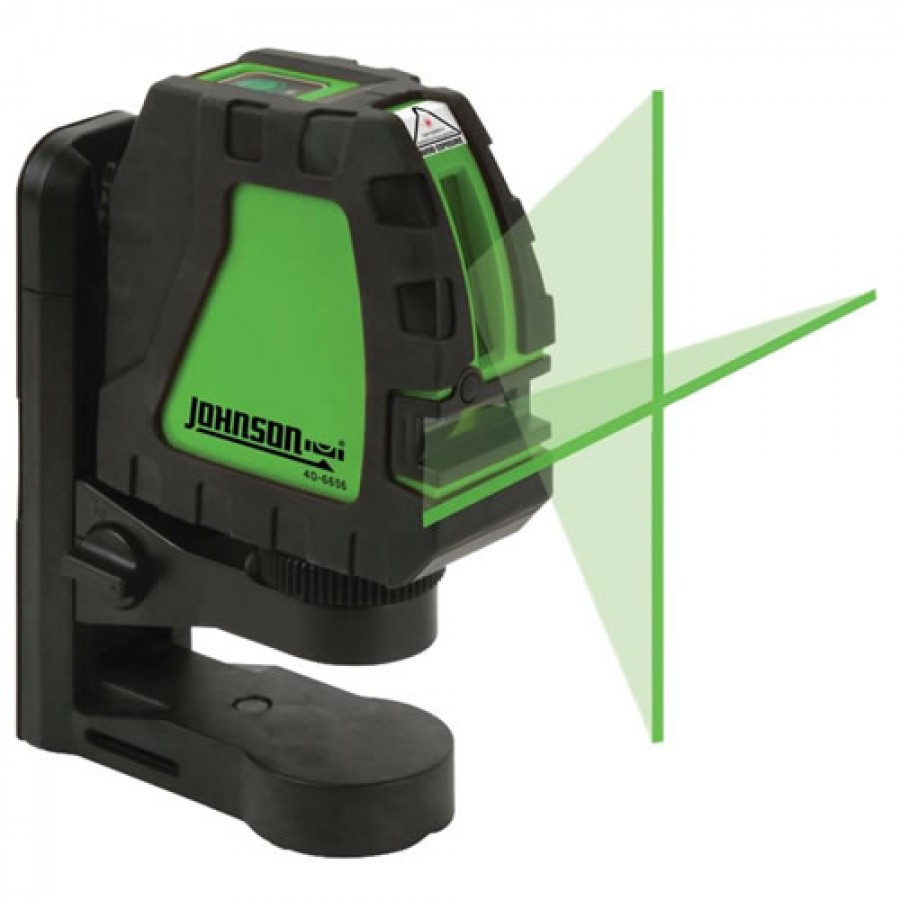 Johnson 40-6656 Self-Leveling Cross-Line Laser with GreenBrite Technology