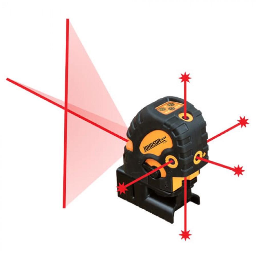 Johnson 40-6685 Self-Leveling Combination Cross-Line and 5 Beam Laser Dot