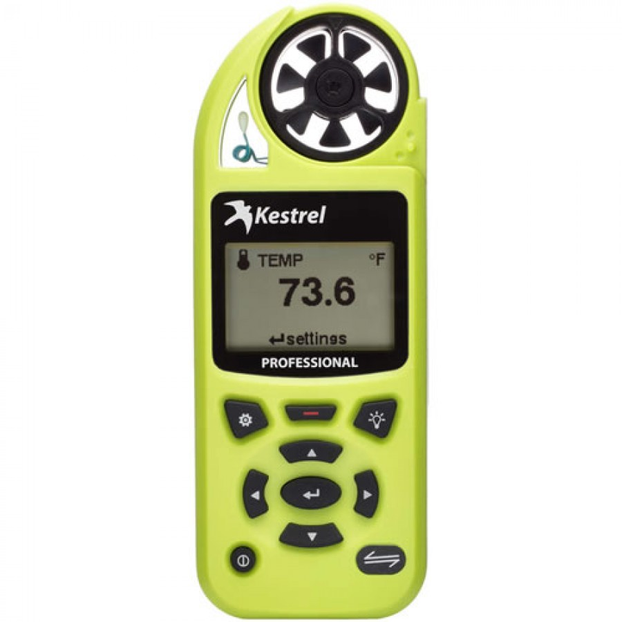 Kestrel 5200 Professional Weather Meter, with Link, High Viz Green