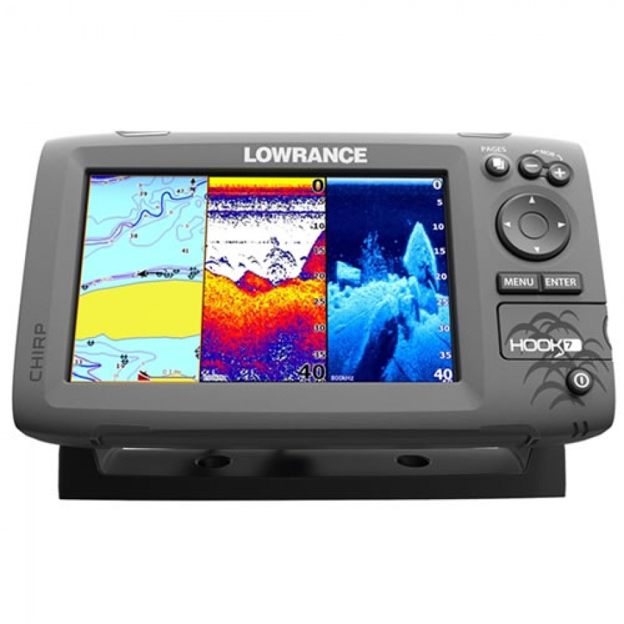 Lowrance HOOK-7 Fishfinder/Chartplotter Combo with No Transducer