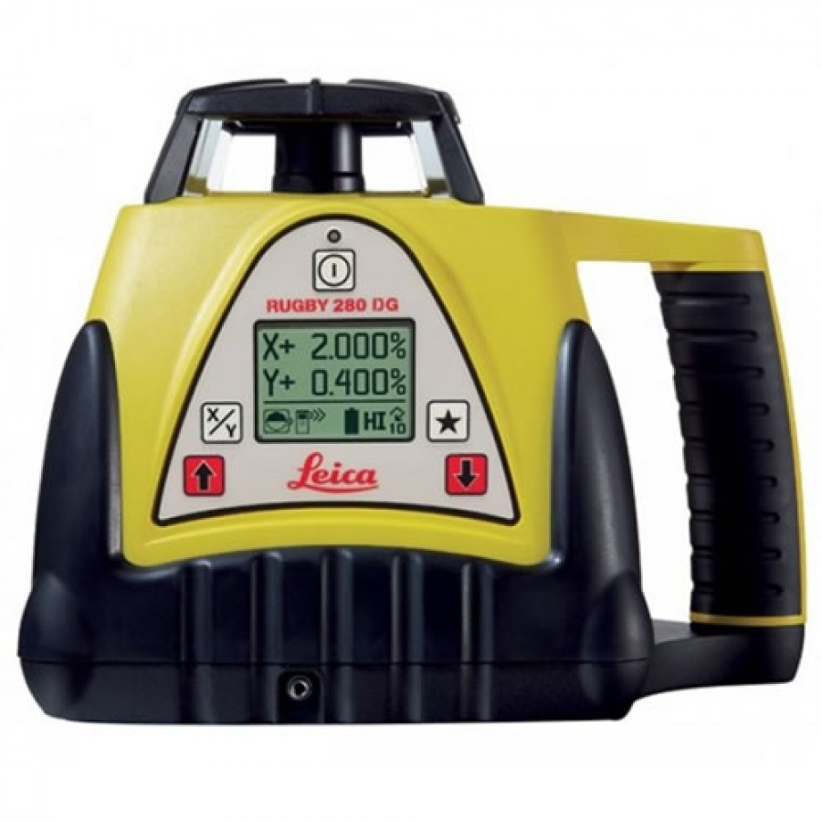 Leica Rugby 280DG Rotary Laser Level with Rod Eye 140 Receiver