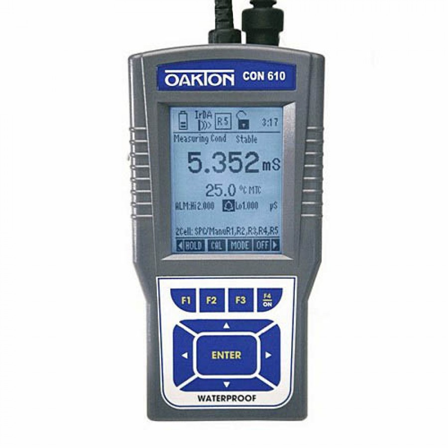 Oakton WD-35408-10 Eutech CyberScan COND 610 Conductivity, TDS, Salinity, Resistivity, Temp. Meter w/Probe