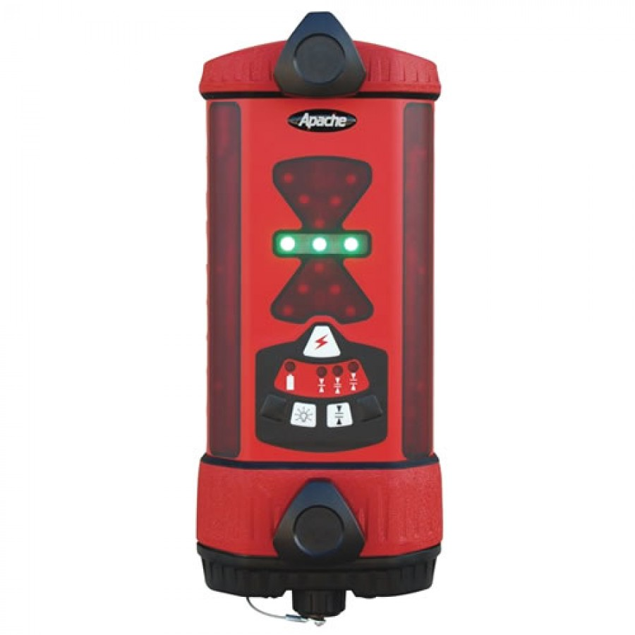 Seco ATI991340-02 Apache Bullseye 3+ Machine Control Laser Receiver with Alkaline Battery - Red