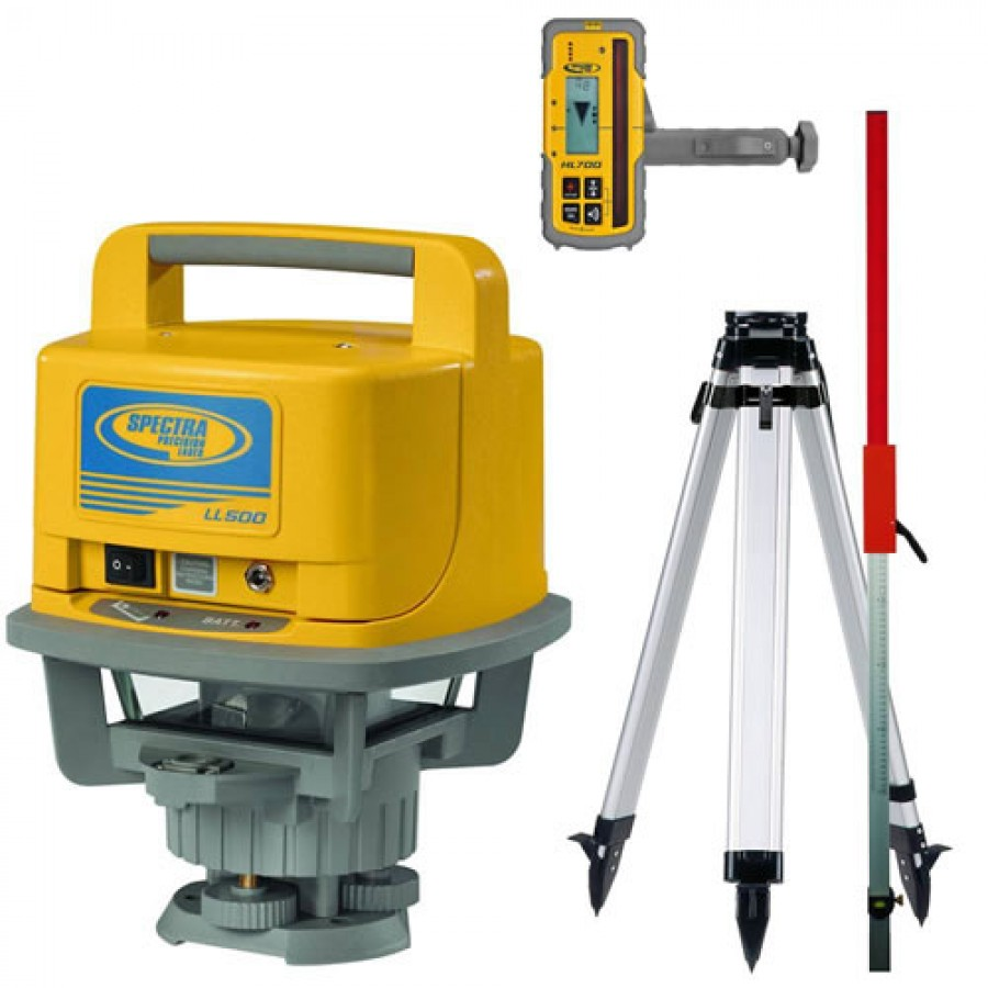 Self Leveling Products : Spectra precision ll self leveling laser with alkaline