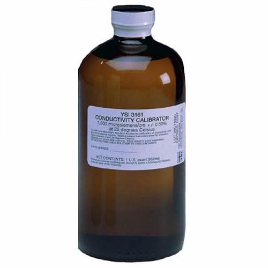 YSI 065270 (3161) Conductivity Standard, 1,000 uS, 1 quart